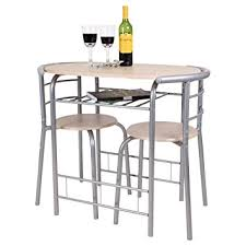 chicago 3 piece dining table and 2 chair set breakfast kitchen bistro