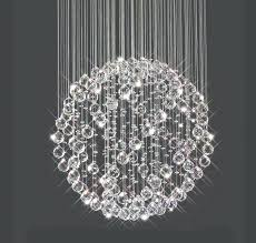 glass ball chandelier new modern led crystal chandeliers light lights clear c