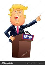 Resultado de imagen para caricaturas de donald trump