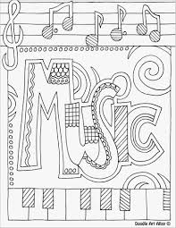 Free Collection Of 41 Music Coloring Sheets Download Them And