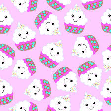 Cupcake Pattern Background Vector Free Download