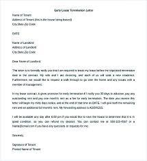 tenancy termination letter template. Ending Tenancy Early Letter Template Uk Tenant Lease Termination
