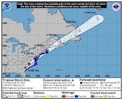 As Elsa Moves North, Tropical Storm ...