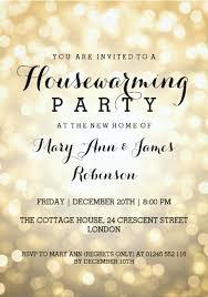 housewarming party glitter invitation card
