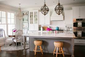 Gray French Kitchen Island with Turned Legs