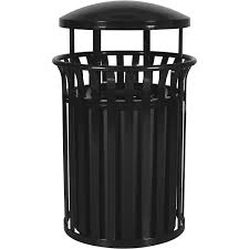outdoor trash can. In Black Outdoor Trash Can O