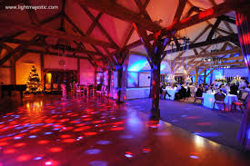 wedding lighting at sandhole oak wedding barn