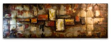 modern abstract metal wall art uk