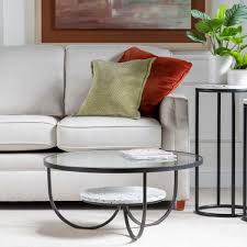 ember round metal coffee table pier 1