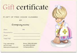 Cleaning Service Templates Cleaning Services Gift Certificate Template