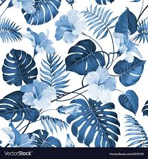 Topical Pattern Gorgeous Topical Palm Leaves Royalty Free Vector Image VectorStock