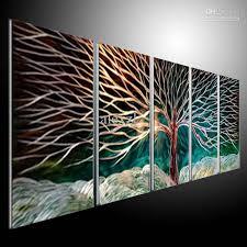2018 metal wall art abstract modern sculpture painting handmade 5 panels melted gold 201207a24 from alexzl 98 24 dhgate com on metal wall art panels with 2018 metal wall art abstract modern sculpture painting handmade 5