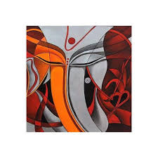 novica modern ganesha painting silver and orange signed portrait 295 liked on polyvore featuring home home decor wall art modern and freestyle  on ganesh wall art uk with novica modern ganesha painting silver and orange signed portrait
