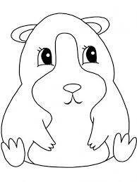 5 Guinea Pig Coloring Pages To Print Guinea Free Colouring Pages