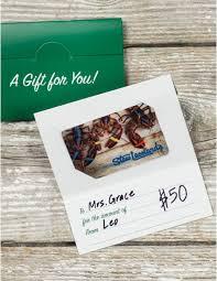 Lobster Lover $50 Stew Leonard's Gift Card