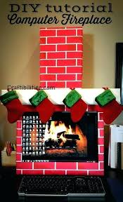 christmas decorations for office cubicle. Fancy Office Christmas Decoration Holiday Idea Fireplace Computer Cubicle Fun Decorations On For O