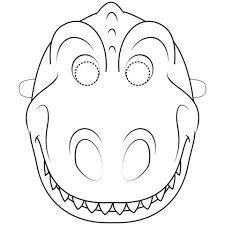 Disegno Di Maschera Da Dinosauro Da Colorare Disegni Da Colorare E
