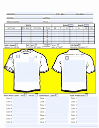 clothing order form template word shirt order forms template lovely work order template word