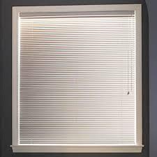 white vinyl 1in mini blinds