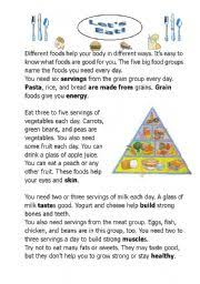Grades 3 to 5 personal health series kidshealth in the. Let S Ea A Reading Comprehension About Health And Food Esl Worksheet By Kangaroo1106