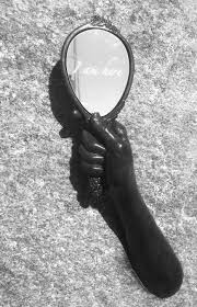 hand holding mirror. Hands Of Time - Holding A Mirror Hand