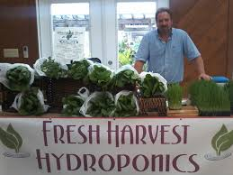 bill jordan of fresh harvest hydroponics is excited for the market to get started submitted photo
