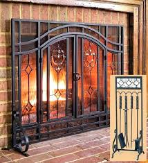 home depot fireplace doors with screens not large enough two door fl glass canada