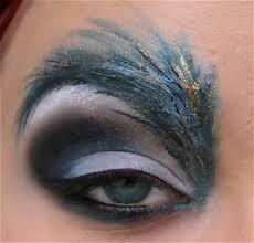 bird makeup birds eye eye makeup feather feather