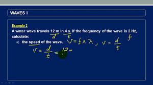 calculating sd and wavelength of a wave given distance and time