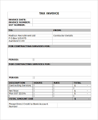 Sample Free Printable Invoice 9 Examples In Pdf Word Excel