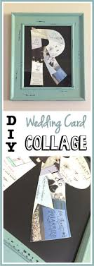 Wedding Card Collage Family Initial Diy Wedding Card Collage The Soccer Mom Blog