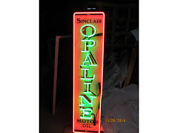 new sinclair opaline motor oil neon sign 1 ft x 4ft 100 made in america