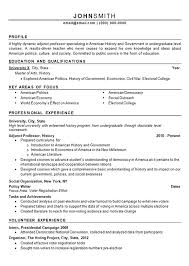 Sample Professor Resume Adjunct Professor Resume Example History And Politics