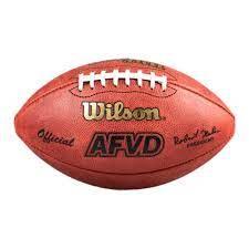 Football AFVD Game Ball WTF1000 offizielle Größe Leder | Wilson