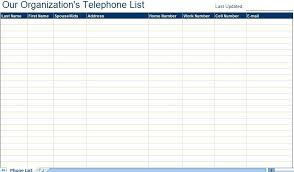 Address List Template Excel Book Printable Phone For Email Contact