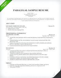 Paper For Resume Inspiration Cover Letter Sample For Paralegal Job Resume Examples Litigation