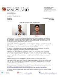 On Hall Release Montgomery Armed Press Robbery Incident Update News Umpd