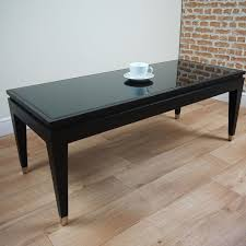 new rv astley modena contemporary matt black coffee table glass top elegant