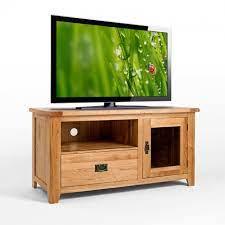 rustic oak tv cabinet with glass doors