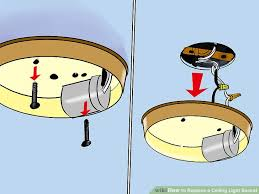 image titled replace a ceiling light socket step 4