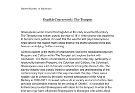 exploring the theme of enslavement in the tempest a level  document image preview