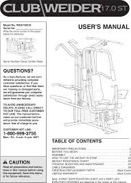 Cable Identification Chart Weider Wesy49310 Owner S Manual 175066