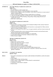 Driver Job Description For Resume Driver Warehouse Associate Resume Samples Velvet Jobs 80