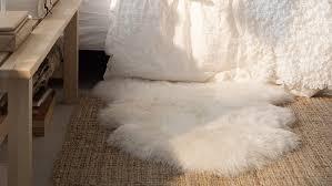 ikea rens 100 genuine sheepskin rug 28x16 white ivory throw chair cover new