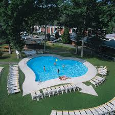 Outdoor heart shaped pool ...