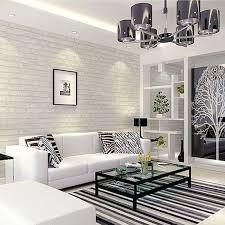 brick wallpaper living room