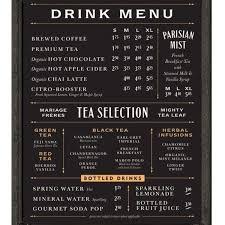 Modern Menu Board Design World Of Printable And Chart