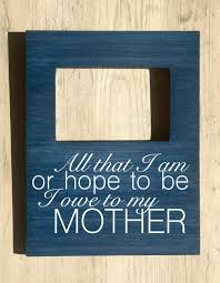 Mother Daughter Inspirational Quotes Delectable Custom Quote Photo Frame Mom Quote Frame Mother Daughter Etsy