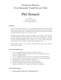 Soccer Coach Resume Sample Gallery Creawizard Com