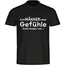T Shirt Auch Männer Haben Gefühle Schwarz Herren Gr S Bis 5xl